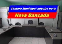 Câmara de Alcantil adquire nova bancada para os vereadores
