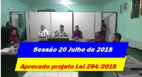 Sessão de 20 de Julho 2018